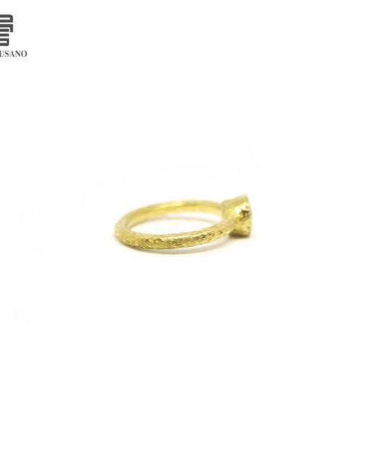 anello pavé di diamanti lato