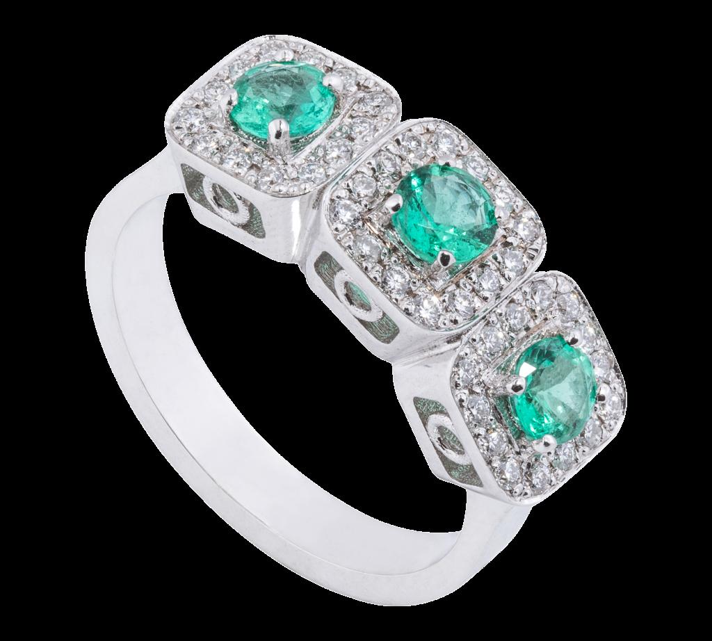 Trilogy con smeraldi Siracusano gioielli